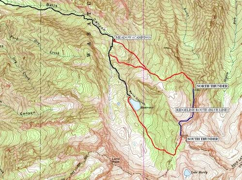 Bells Canyon route