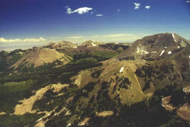 Mt Mellenthin (right) as seen...