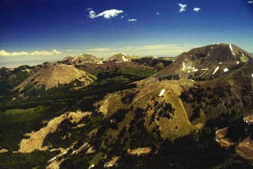 Mt Mellenthin (right) as seen...