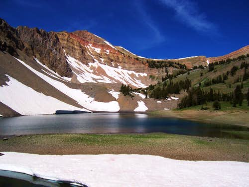 Mount Fitzpatrick and Upper Crow Creek Lake