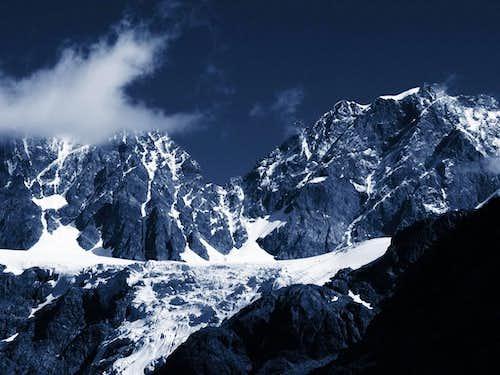 Glacier Vedretta di Scerscen Superiore