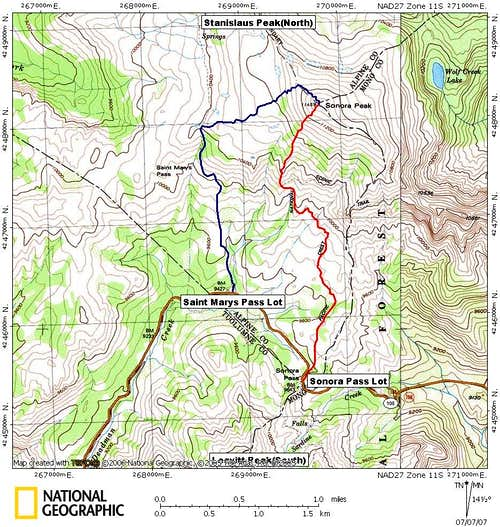 Sonora Peak Routes