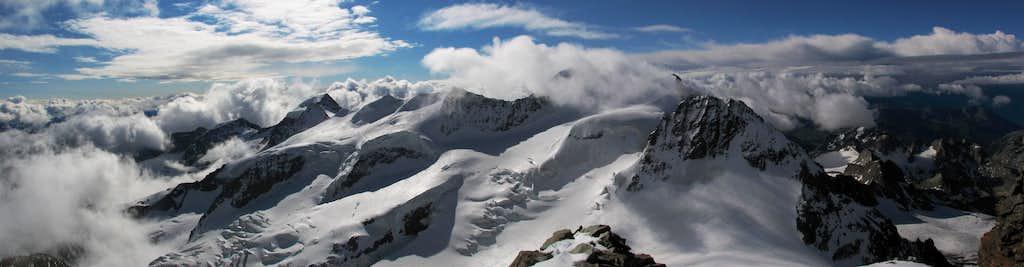 Bernina east-south panorama
