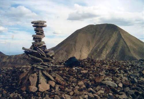 Behold! The summit cairn that...