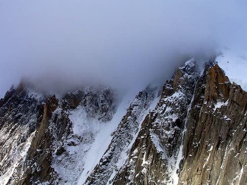 Mt Blanc du Tacul - North face