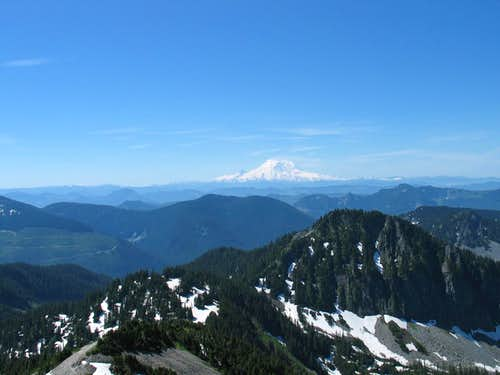 Mt. Rainier always dominates