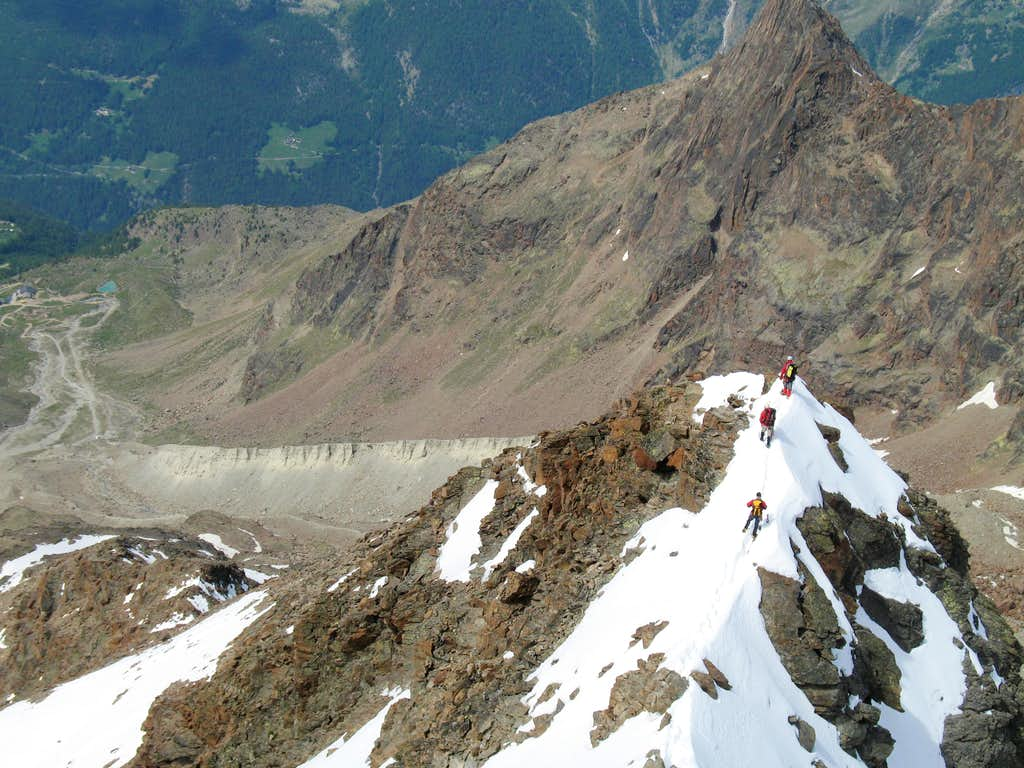 descending west ridge
