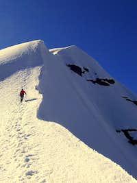 Andrew heading up the ridge