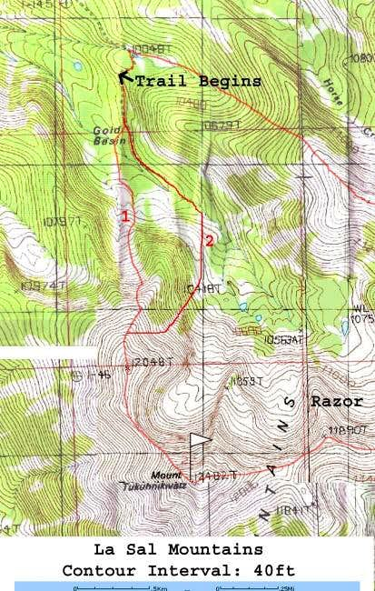 A topo map showing both...