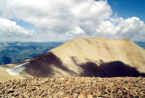 The summit of West Sopris...