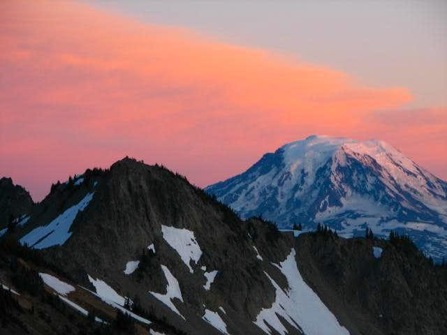 Peak 6735 and Mt. Adams