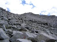 Looking up the west face