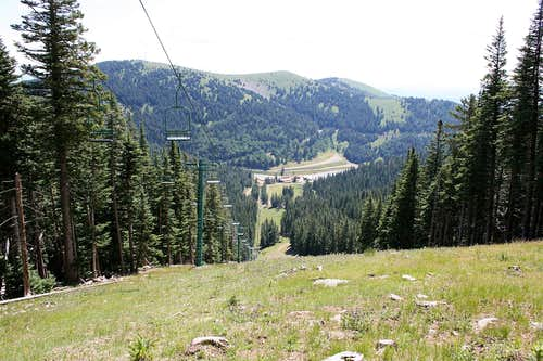 Close to the top (of the ski slope, not Sierra Blanca)