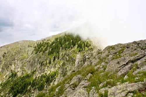 Final ridge to Sierra Blanca