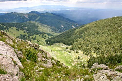 View from ridge to Sierra Blanca