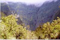 A peek into the caldera which...