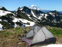 Camp in Cispus Basin