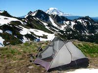 Camp in Cispus Basin