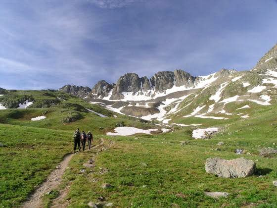 Early July on Handies Peak from American Basin