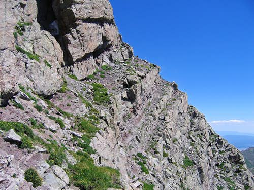 Ledges on Adams east face