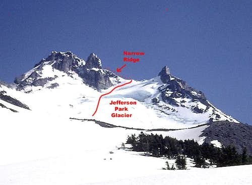 Mount Jefferson, Jefferson Park Glacier Route