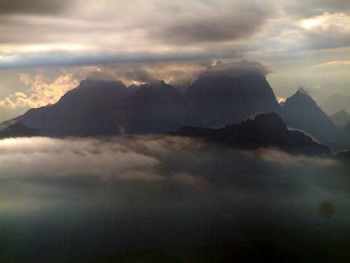 Sunset over the Julian Alps