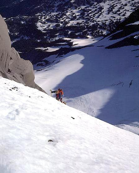 Jefferson Park Glacier Route<br>Topping out the headwall
