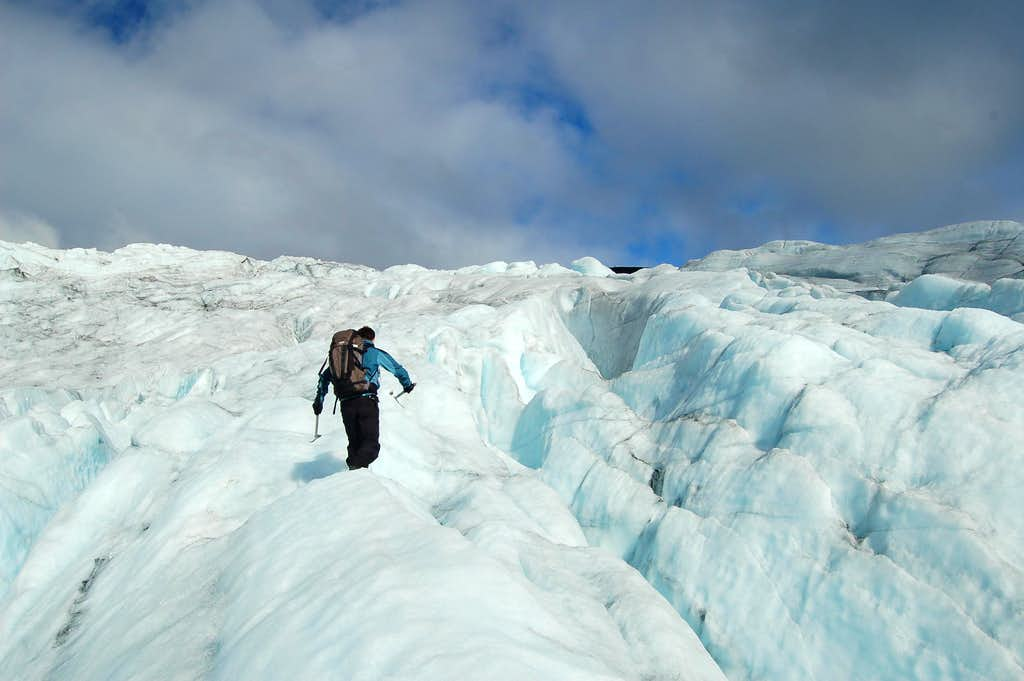 Lower slopes of the Svellnosbrean Glacier