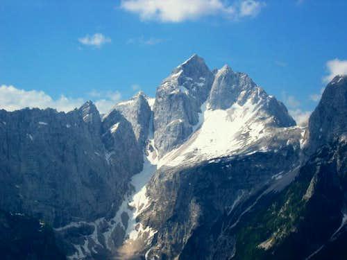 Jalovec from the summit of Visoka pec