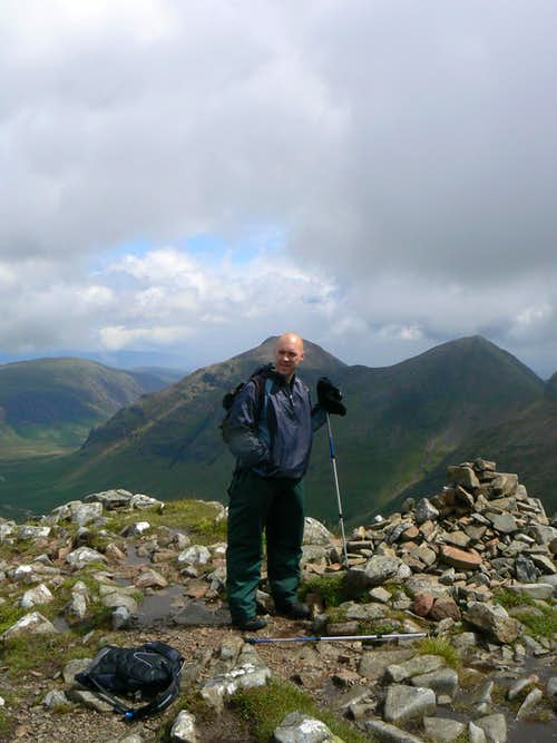 Charles on the summit of Stob Dubh
