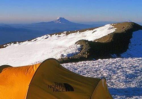 Camping at Columbia Crest, Mt Rainier