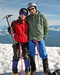 Sophie and Tim Egan on Mt. Hood