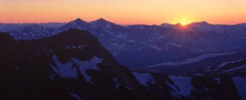 Sunset from the summit of Mt...
