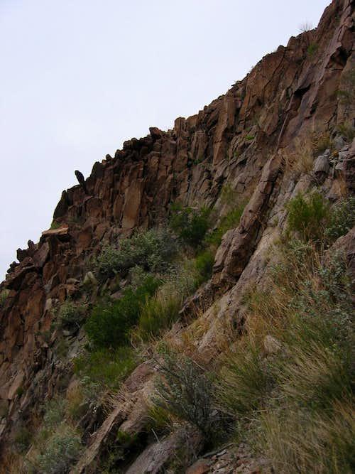 Headwall below summit slopes