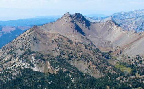 Krag Peak as seen from the...