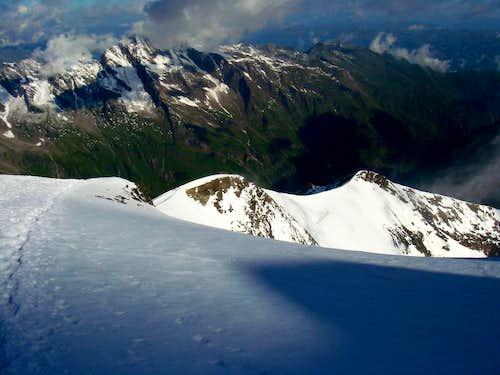 Kaindl ridge on Grosses Wiesbachhorn