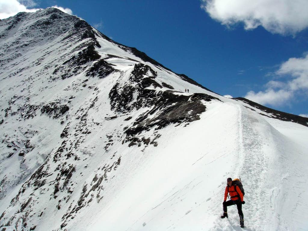 Grosses Wiesbachhorn (3.564 m) NW face and Kaindl ridge
