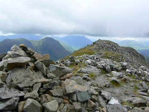 First summit cairn on Stob Dubh