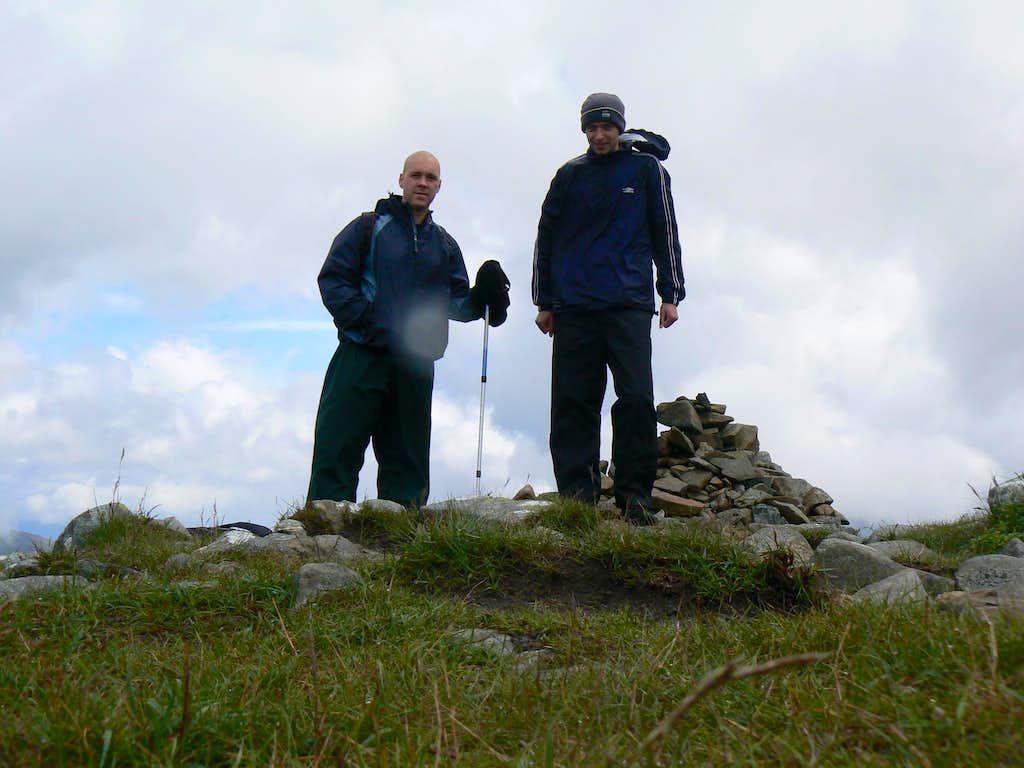 On the summit of Stob Dubh