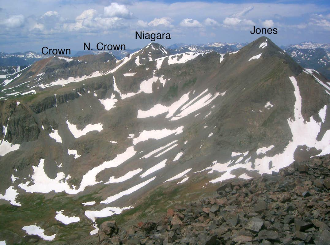North Crown Mountain - American Peak  Ridge