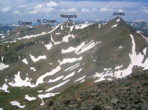 """North Crown Mountain""-""American Peak"" Ridge"