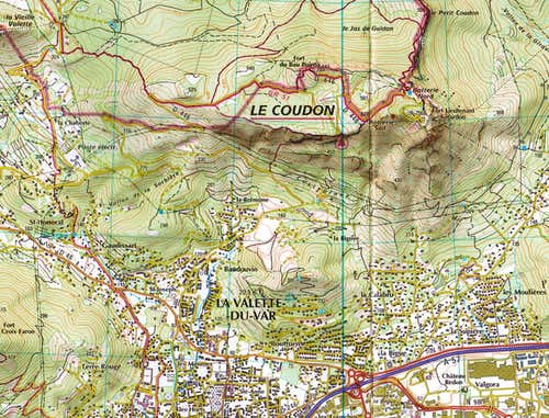 Map of Mont Coudon