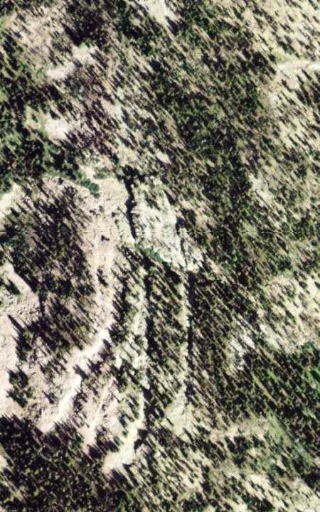Google satellite imagery close-up