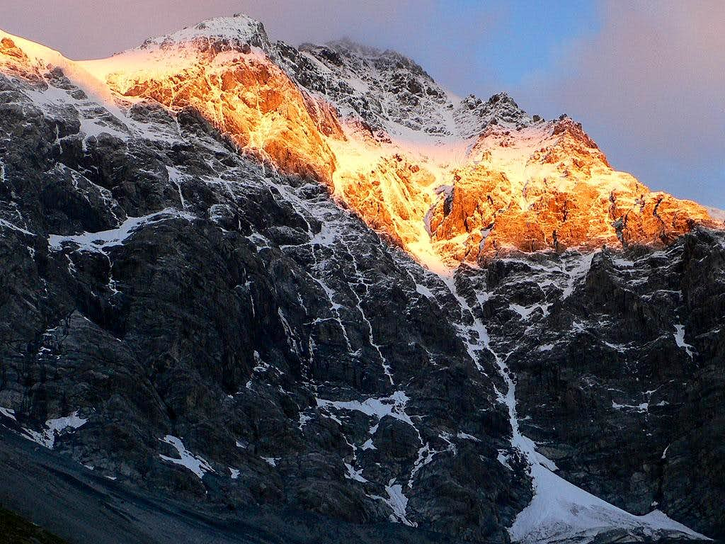 Ortler at dawn