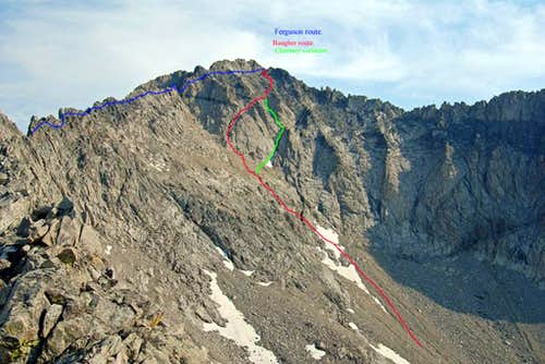 Routes on Brocky peak