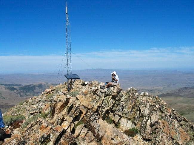 rfbolton enjoys the summit...