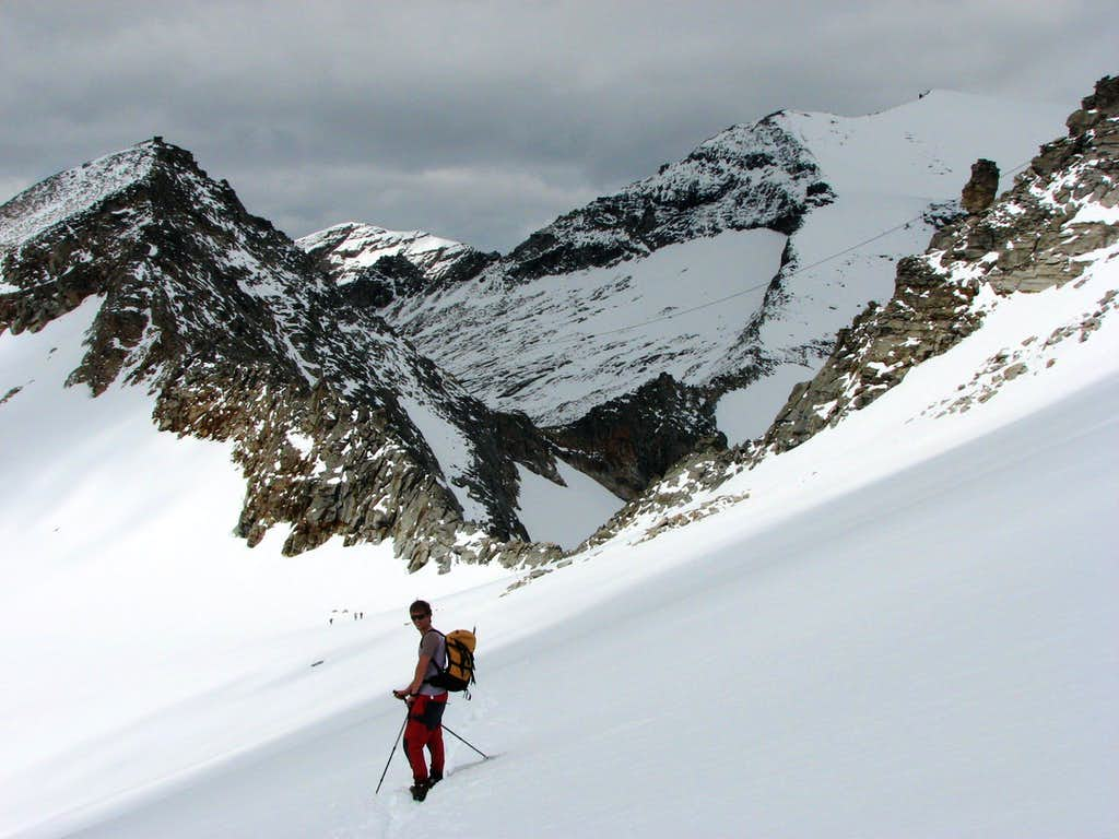 Me on the Kleinleisskees (glacier) below Hoher Sonnblick (3105m)