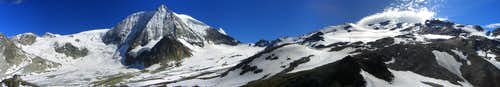 Panorama: Mont Blanc de Cheilon and La Luette