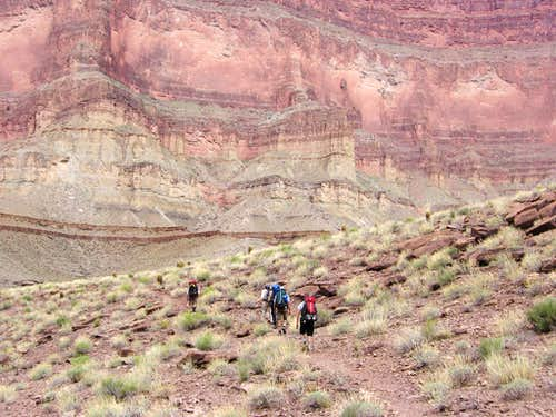 On Tonto trail between Garnett to Copper Canyons