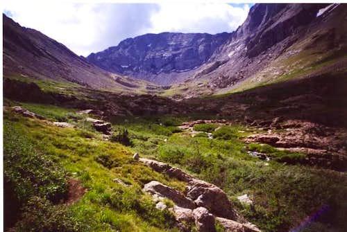 The valley below Challenger...